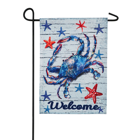 BLUE CRAB GARDEN LINEN BLACKOUT FLAG