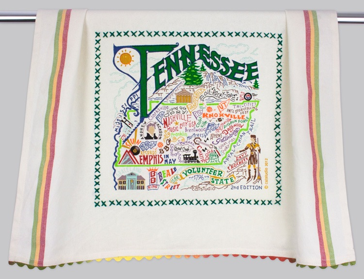TENNESSEE DISH TOWEL Catstudio - A. Dodson's