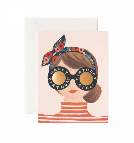 BIRTHDAY GIRL CARD, Rifle Paper Co - A. Dodson's