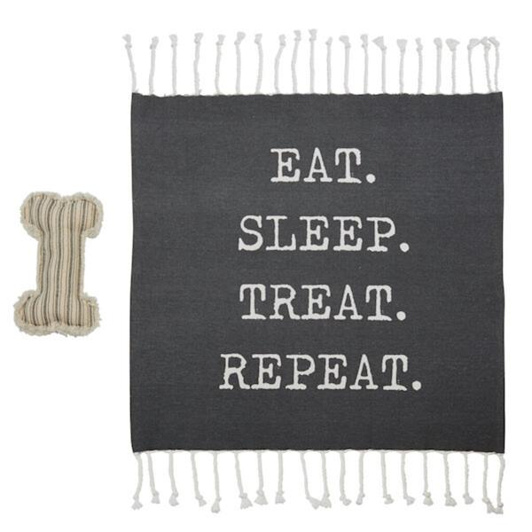 REPEAT DOG BLANKET AND TOY SET