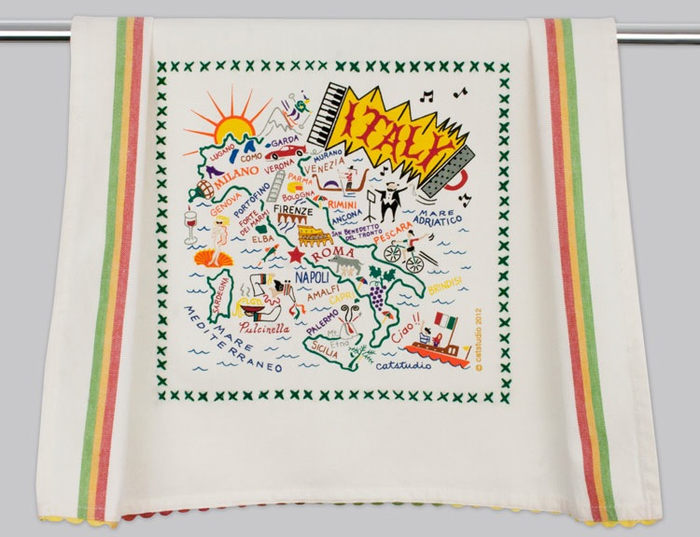 ITALY DISH TOWEL BY CATSTUDIO