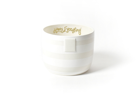 HAPPY EVERYTHING WHITE STRIPE MINI BOWL {product_vendor} - A. Dodson's