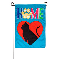 Cat Home Garden Applique Flag