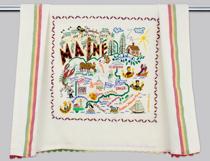 MAINE DISH TOWEL BY CATSTUDIO