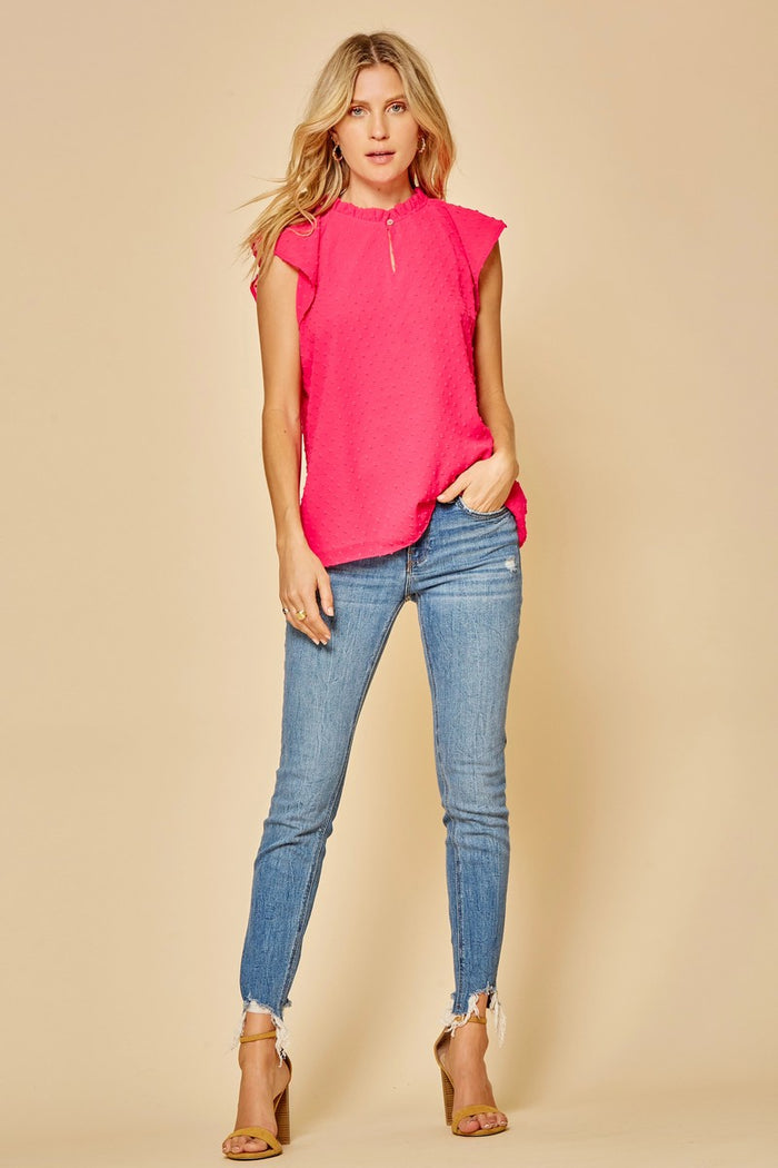 Perla Dotted Pink Top