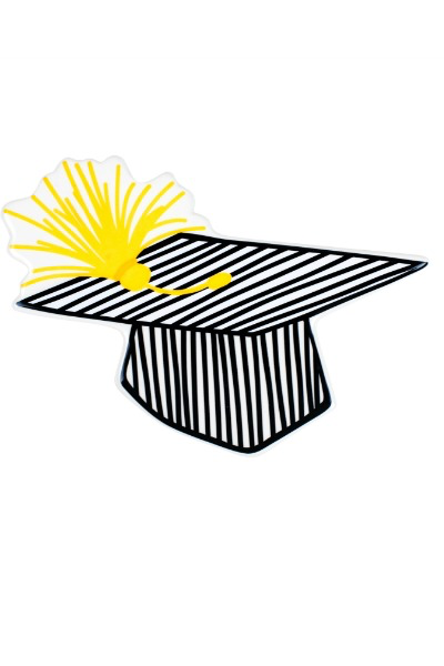 HAPPY EVERYTHING STRIPED GRADUATION CAP BIG ATTACHMENT {product_vendor} - A. Dodson's