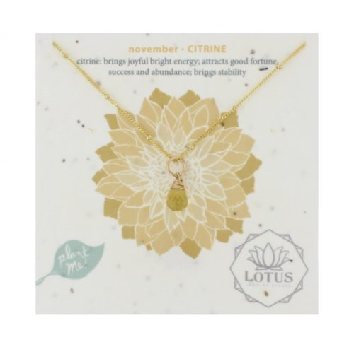 GOLD/SILVER BIRTHSTONE WILDFLOWER CARDS