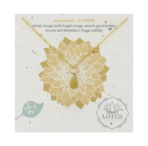 GOLD/SILVER BIRTHSTONE WILDFLOWER CARDS Lotus Jewelry Studio - A. Dodson's
