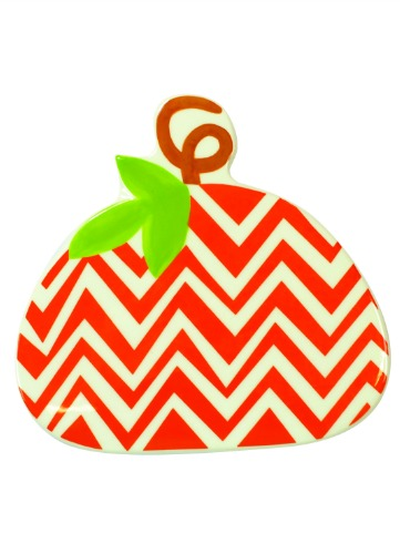 HAPPY EVERYTHING CHEVRON PUMPKIN  BIG ATTACHMENT