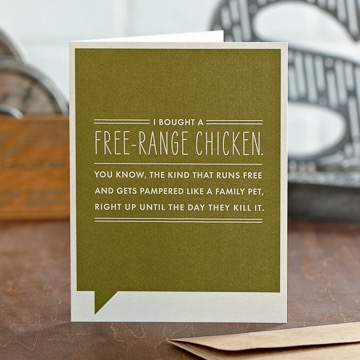 FREE-RANGE CHICKEN CARD, Frank Funny by COMPENDIUM - A. Dodson's