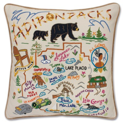 ADIRONDACKS PILLOW BY CATSTUDIO