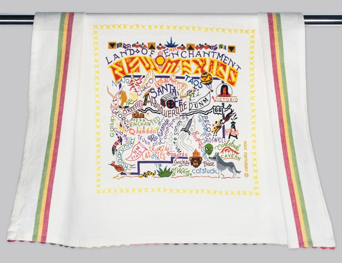 NEW MEXICO DISH TOWEL BY CATSTUDIO