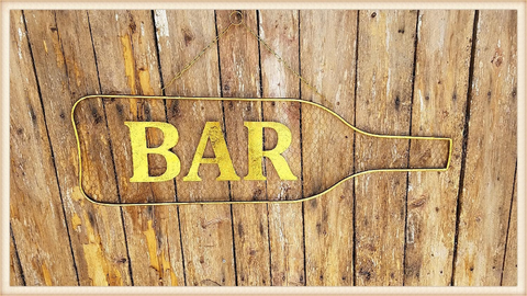 MESH BACK BAR SIGN, Peacock Park Design - A. Dodson's
