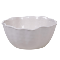 "PERLETTE CREAM DEEP BOWL 11"" X 5"", Certified International - A. Dodson's"