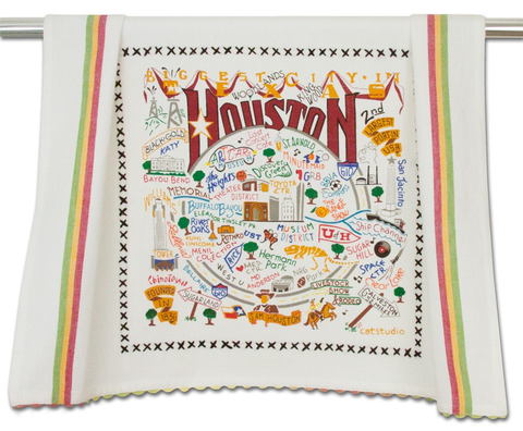 HOUSTON DISH TOWEL BY CATSTUDIO