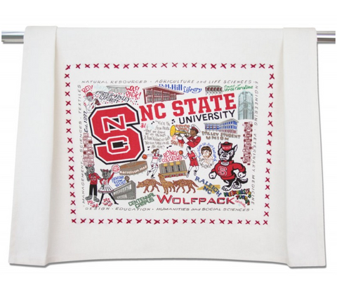 NORTH CAROLINA STATE UNIVERSITY DISH TOWEL BY CATSTUDIO, Catstudio - A. Dodson's