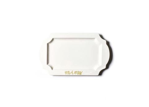HAPPY EVERYTHING WHITE MR AND MRS TRADITIONAL TRAY, Happy Everything - A. Dodson's