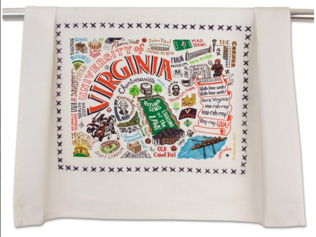 UNIVERSITY OF VIRGINIA DISH TOWEL BY CATSTUDIO, Catstudio - A. Dodson's