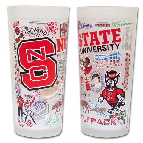 NORTH CAROLINA STATE UNIVERSITY GLASS BY CATSTUDIO