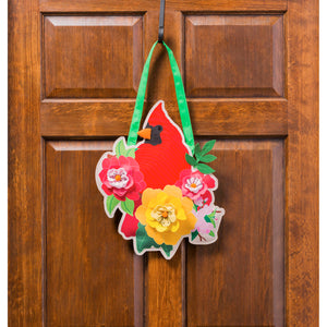 Spring Cardinal Door Décor
