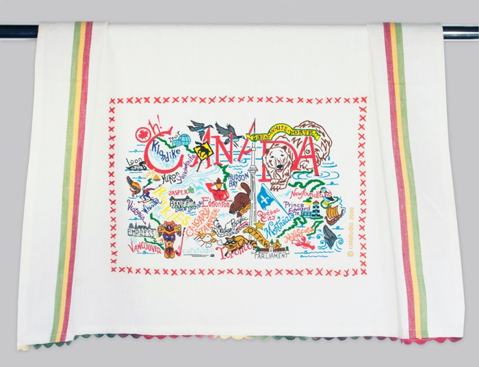 CANADA DISH TOWEL BY CATSTUDIO