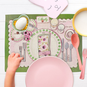 PLACE SETTING - GIRL FABRIC PLACEMAT