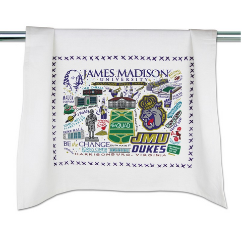 JAMES MADISON UNIVERSITY (JMU) DISH TOWEL, Catstudio - A. Dodson's