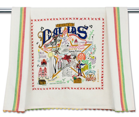 DALLAS DISH TOWEL BY CATSTUDIO