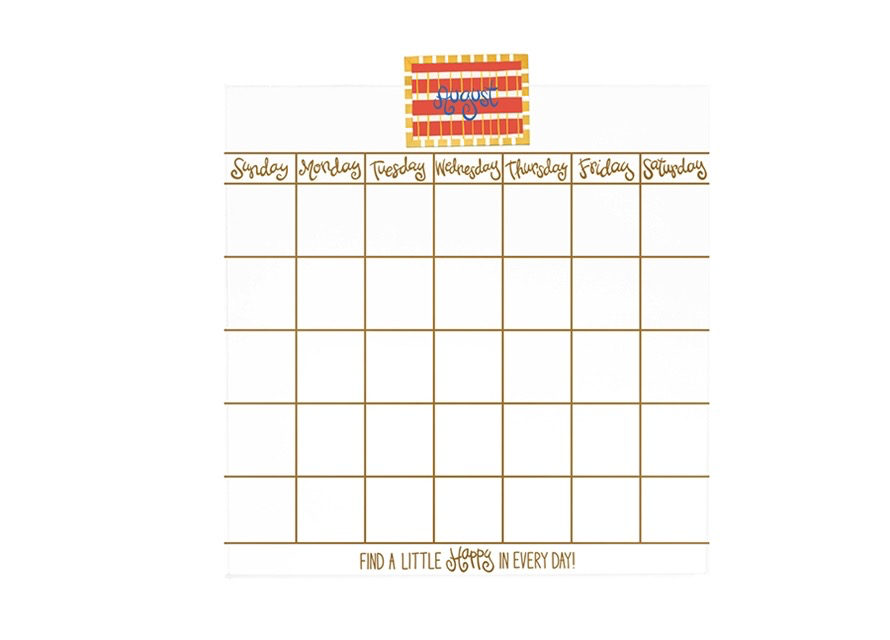 HAPPY EVERYTHING MAGNETIC DRY ERASE MINI WALL CALENDAR, Happy Everything - A. Dodson's