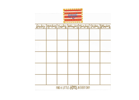 HAPPY EVERYTHING MAGNETIC DRY ERASE MINI WALL CALENDAR