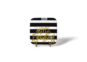 HAPPY EVERYTHING BLACK STRIPE MINI PLATTER Happy Everything - A. Dodson's