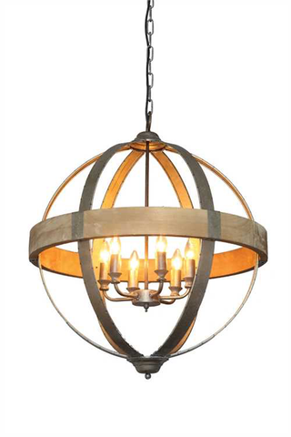 WOOD PENDANT CHANDELIER