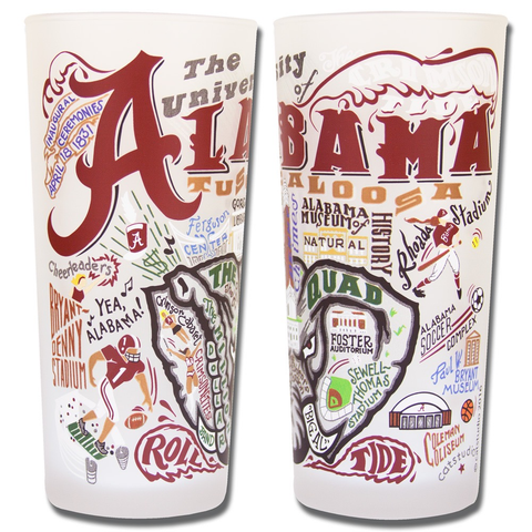 UNIVERSITY OF ALABAMA GLASS BY CATSTUDIO