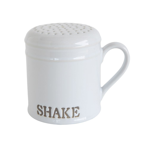 """SHAKE"" STONEWARE KITCHEN SHAKER, Creative Co-Op - A. Dodson's"