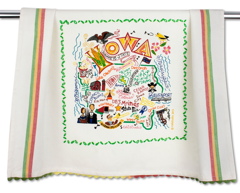 IOWA DISH TOWEL BY CATSTUDIO