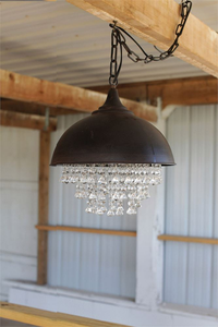 METAL CRYSTAL CHANDELIER