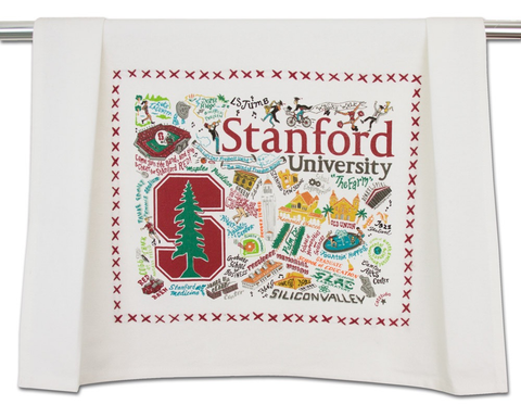 STANFORD UNIVERSITY DISH TOWEL BY CATSTUDIO
