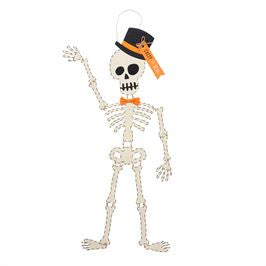 SKELETON TOP HAT DOOR HANGER