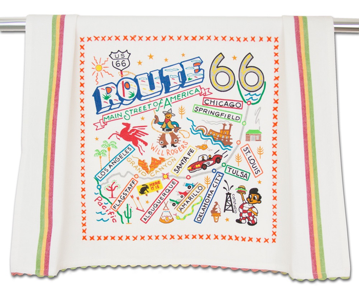 ROUTE 66 DISH TOWEL BY CATSTUDIO