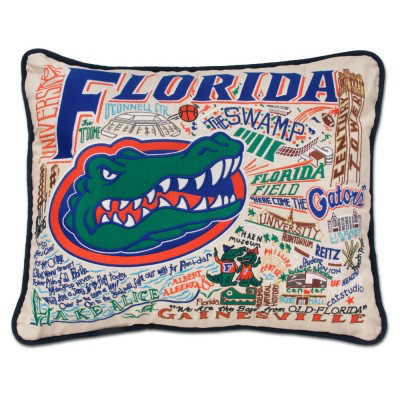 UNIVERSITY OF FLORIDA PILLOW BY CATSTUDIO