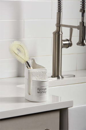 CIRCA SPONGE BRUSH HOLDER SET
