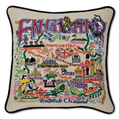 ENGLAND PILLOW BY CATSTUDIO