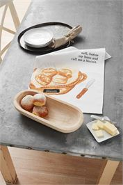 PAULOWNIA BREAD BOWL & TOWEL SET