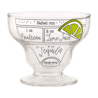 MARGARITA RECIPE GLASS