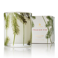 FRASIER FIR POURED CANDLE - PINE NEEDLE DESIGN, Thymes - A. Dodson's