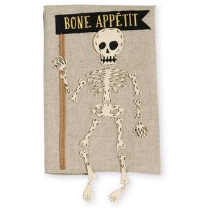 SKELETON DANGLE LEG TOWEL