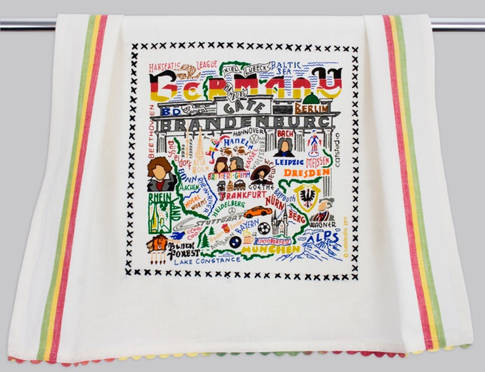 GERMANY DISH TOWEL BY CATSTUDIO