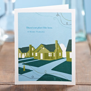 THERE'S NO PLACE LIKE HOME CARD, Green Greeting by COMPENDIUM - A. Dodson's