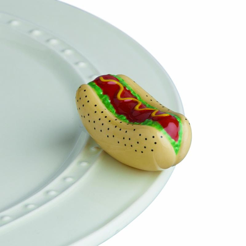 BRAND NEW! NORA FLEMING CHICAGO STYLE HOT DOG MINI, Nora Fleming - A. Dodson's