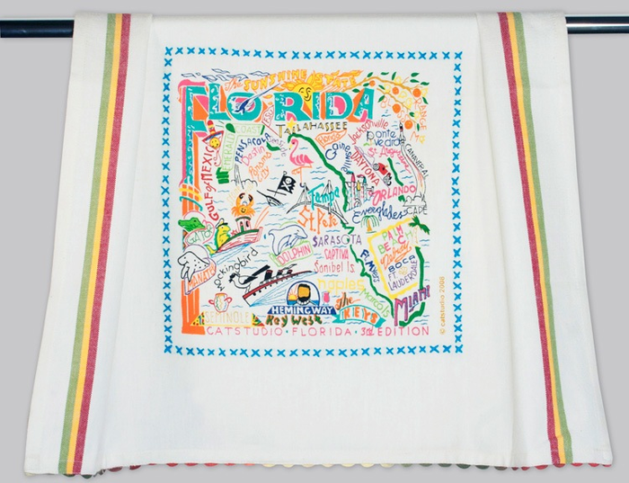 FLORIDA DISH TOWEL BY CATSTUDIO